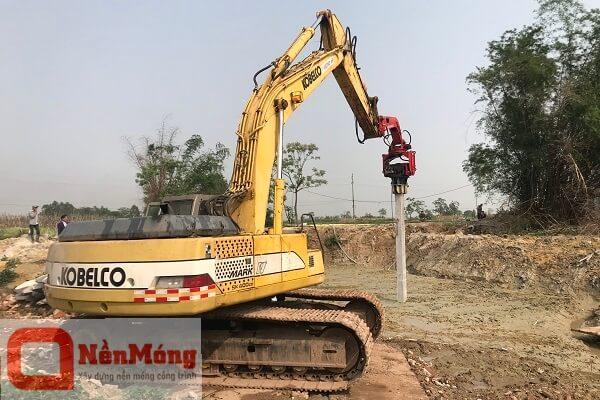 Dự án đóng cọc bê tông kênh Chờ - Bắc Ninh