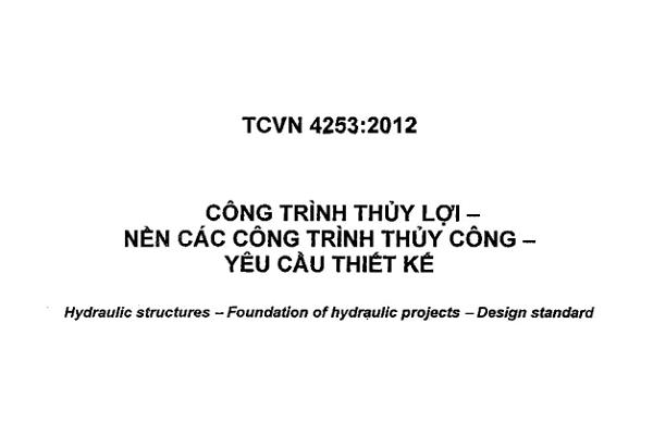 Tiêu chuẩn quốc gia TCVN 4253:2012