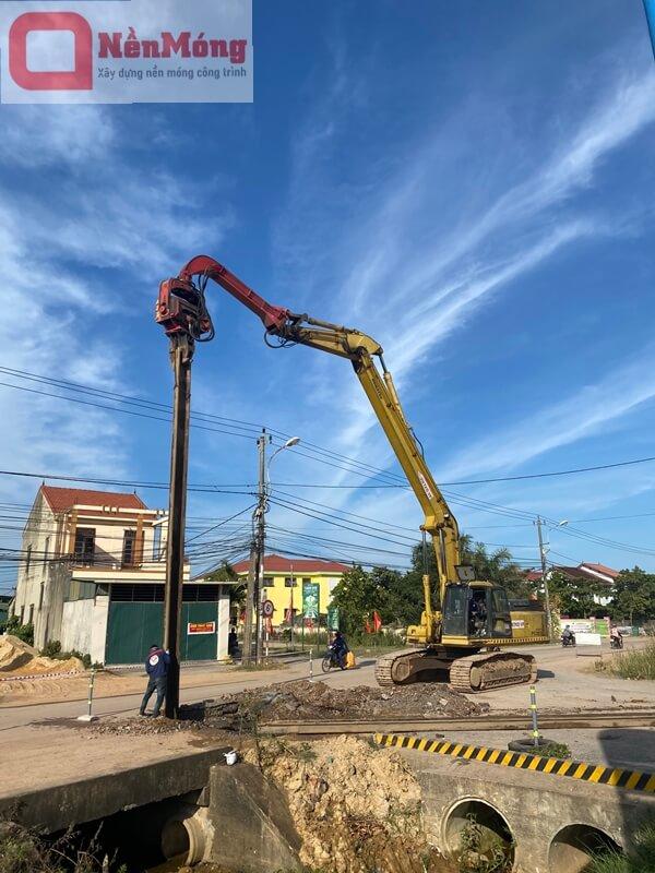 Đóng cừ larsen dài 12m tại dự án Intercontinental Hạ Long, Quảng Ninh