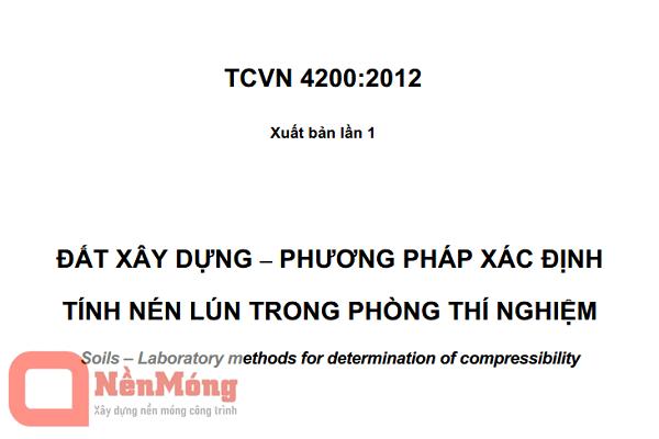TCVN 4200:2012 - Đất xây dựng - Phương pháp xác định tính nén lún trong phòng thí nghiệm